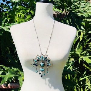 Lucky Brand turquoise Peacock necklace